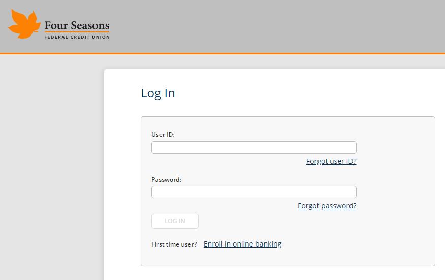 Screenshot showing the Online Banking login page.